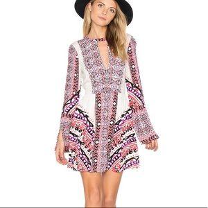 NWT Free People Printed Tegan Mini Dress